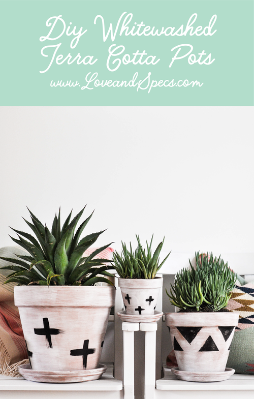 Painting Terra Cotta Pots a tutorial featured by top Phoenix lifestyle blog, Love and Specs