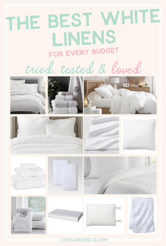 Our Favorite White Bedding & Towels: Tried, Tested & Loved