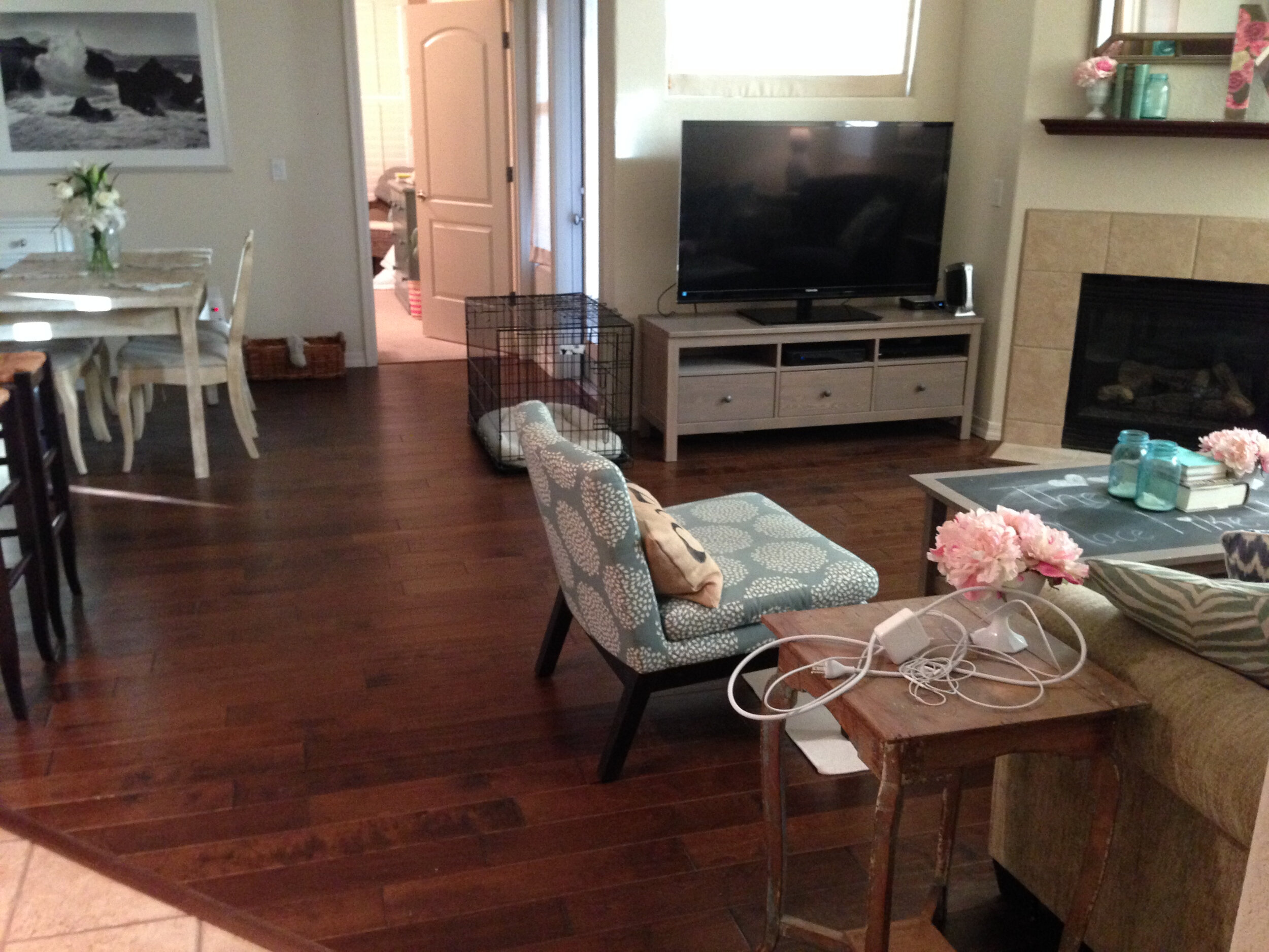 DIY IKEA Hemnes Coffee Table and Media Console Hack, a tutorial featured by top US home DIY blogger, Love and Specs