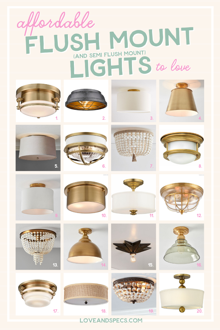 The best cheap small flush mount and semi flush mount ceiling lights by Top US lifestyle blog Love and Specs