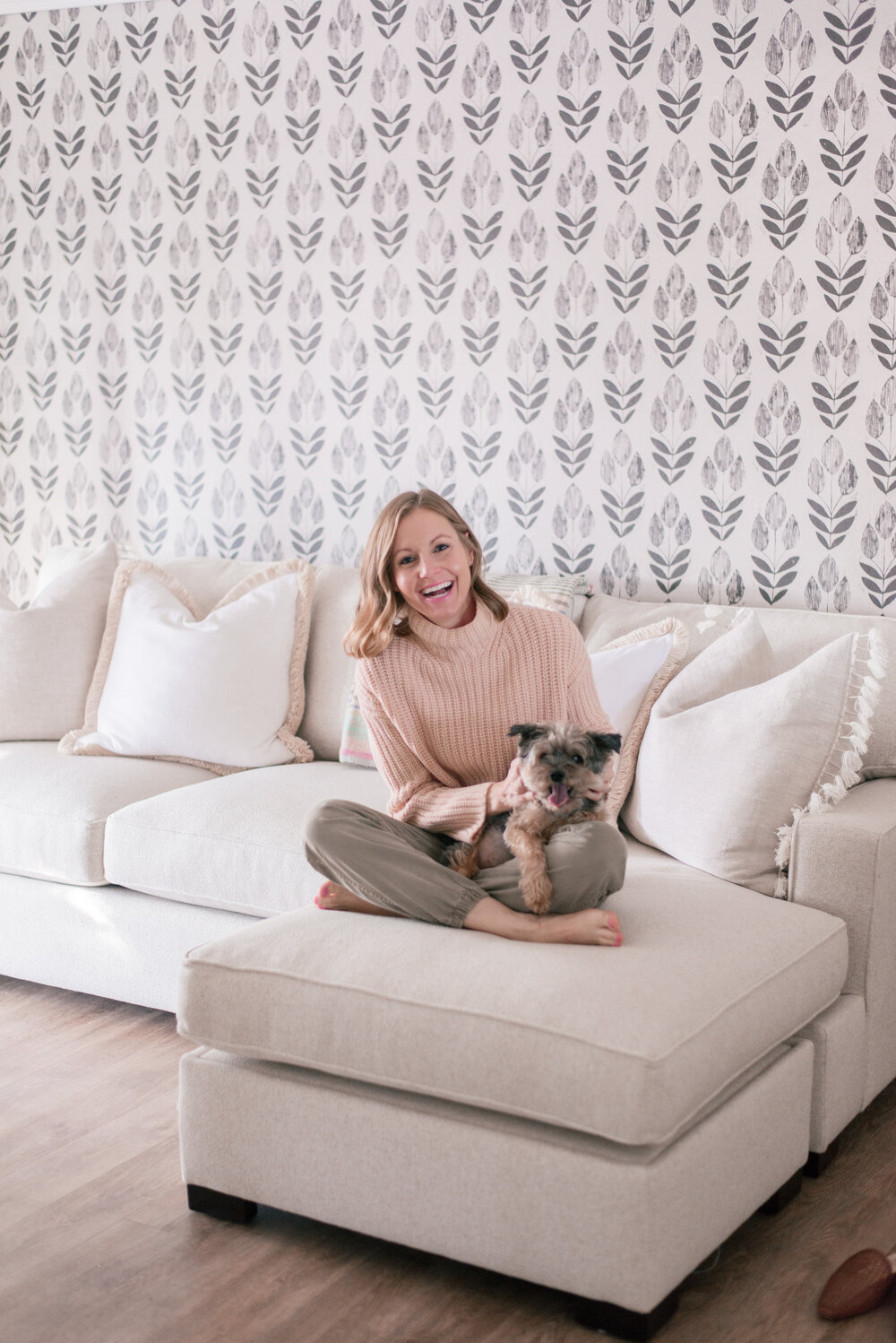 Pottery Barn Townsend White Sectional Couch in Performance Boucle Oatmeal by Top US Lifestyle Blog Love and Specs