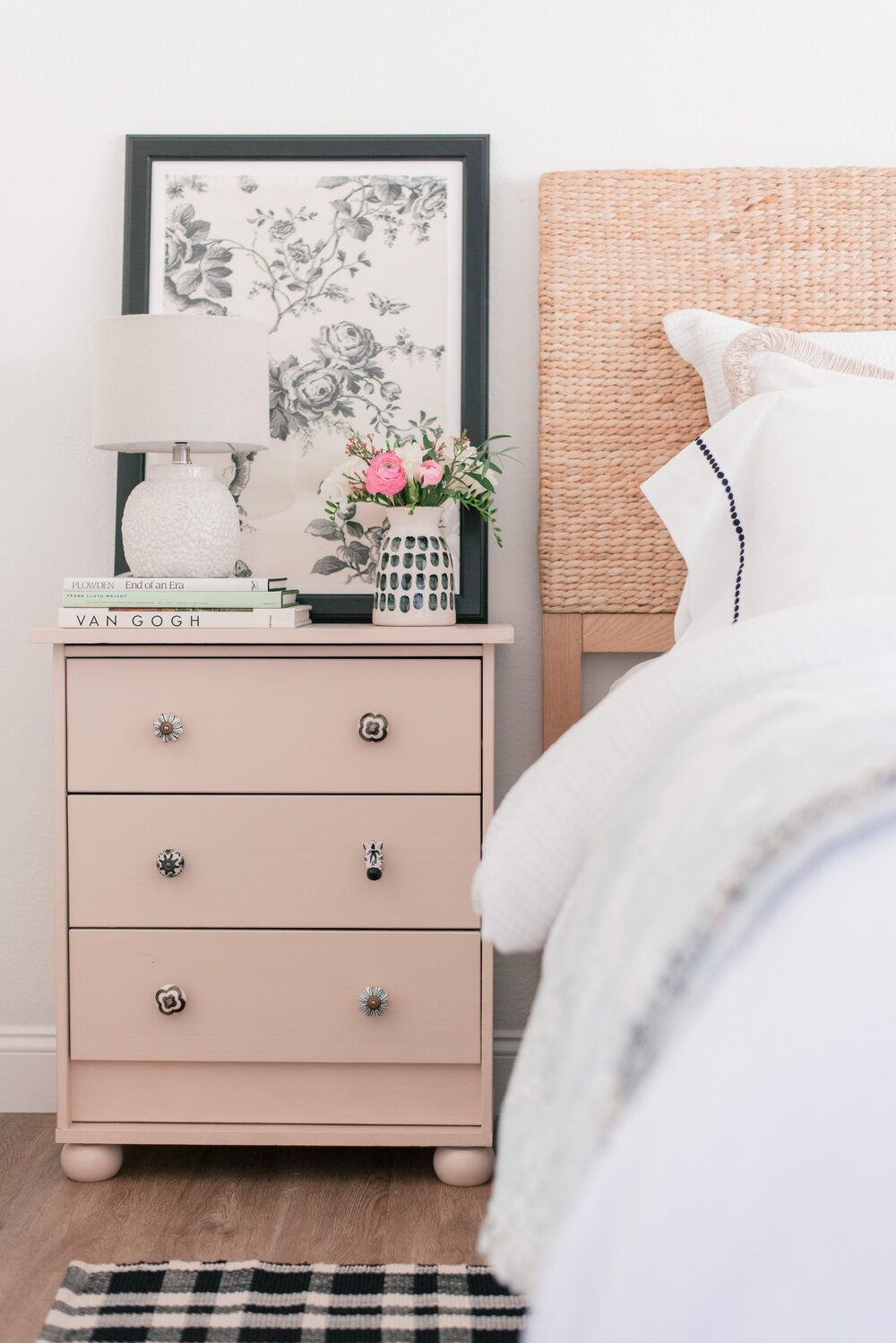 Easy DIY Bedroom Nightstand Makeover  featured by top Phoenix lifestyle blog, Love and Specs