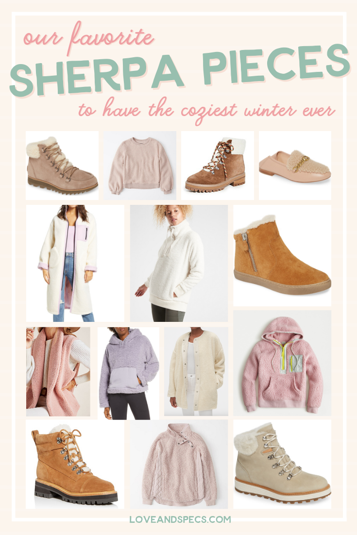 Cozy sherpa finds featured by top Phoenix life and style blog, Love and Specs.