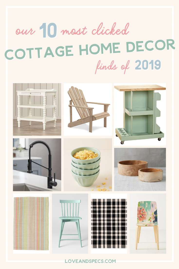 Most Popular Cottage Style Home Decor Finds featured by top US home decor blog, Love and Specs