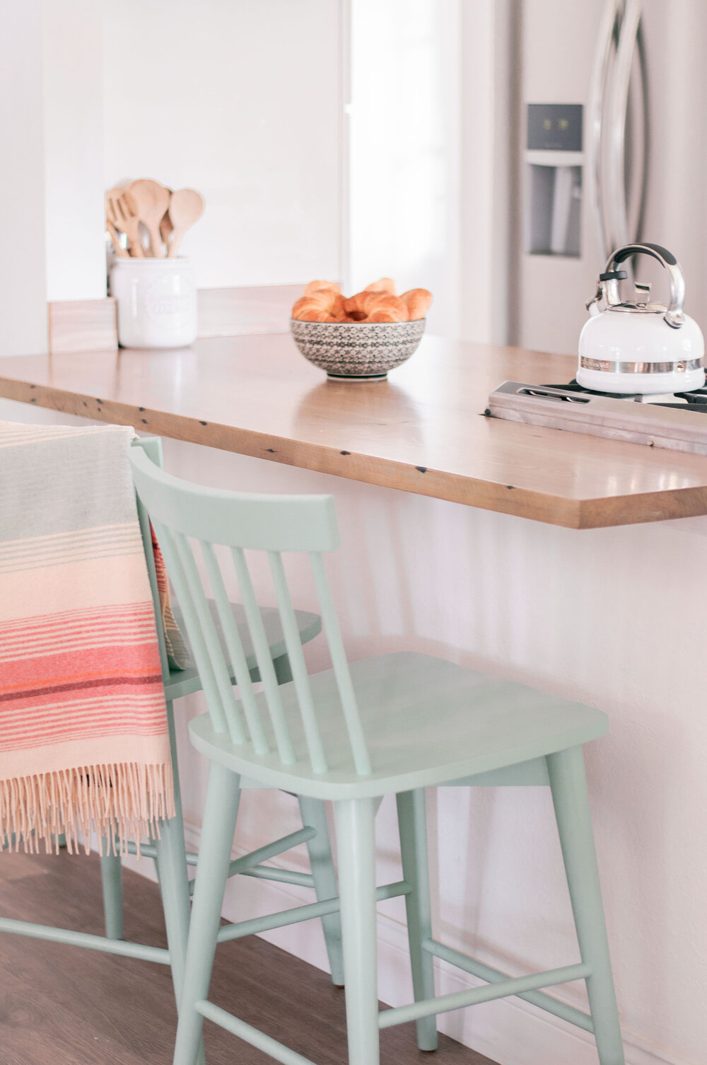 Most Popular Cottage Style Home Decor Finds featured by top US home decor blog, Love and Specs: mint counter stool