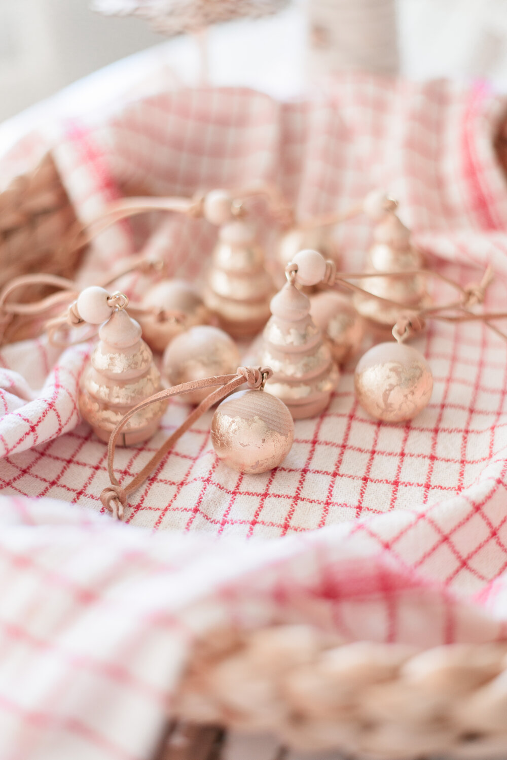 DIY Gilded Wood Christmas Ornaments, a tutorial featured by top US lifestyle blog, Love and Specs
