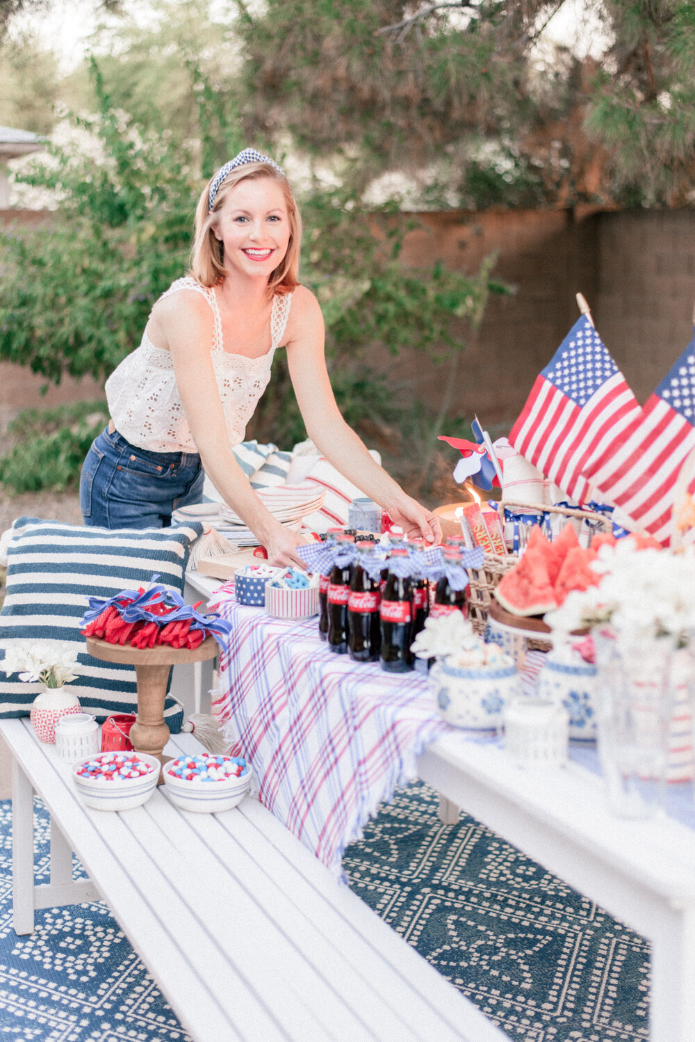 Fun 4th of July Inspired Red White and Blue Decorations to Love This Year featured by top Phoenix lifestyle blogger, Love and Specs.