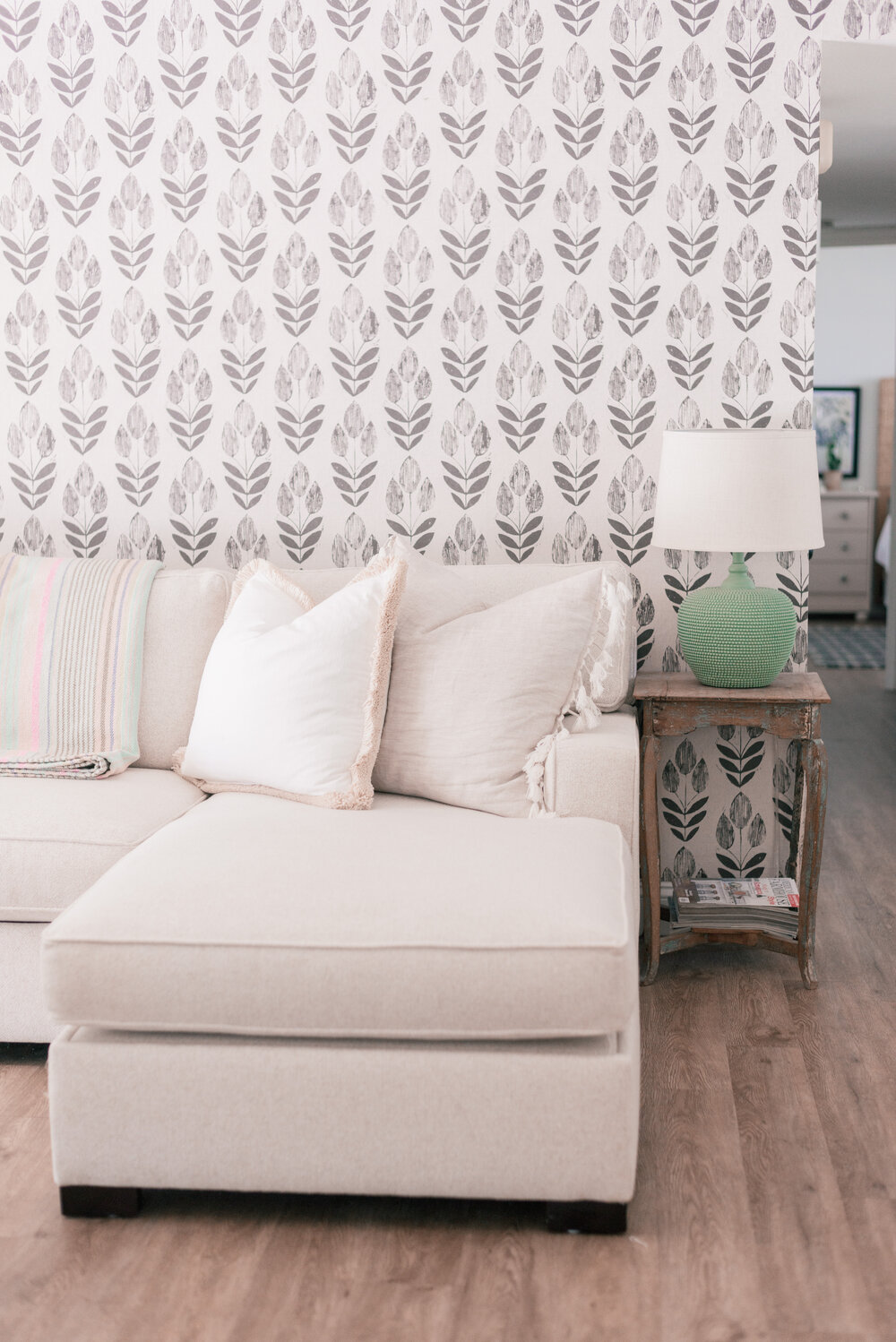 Pottery Barn White Couch featured by top Phoenix lifestyle blogger, Love and Specs