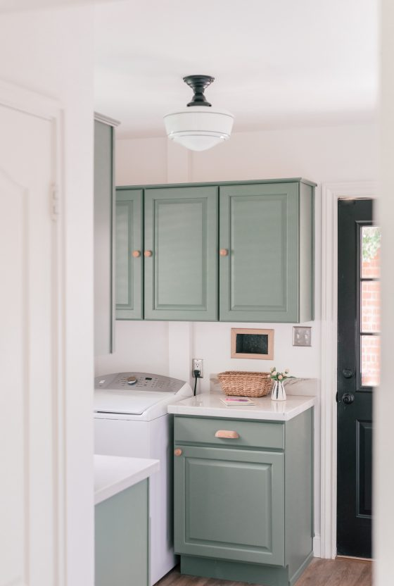 DIY Laundry Room Makeover With Design Ideas, Decor & Painted Cabinets