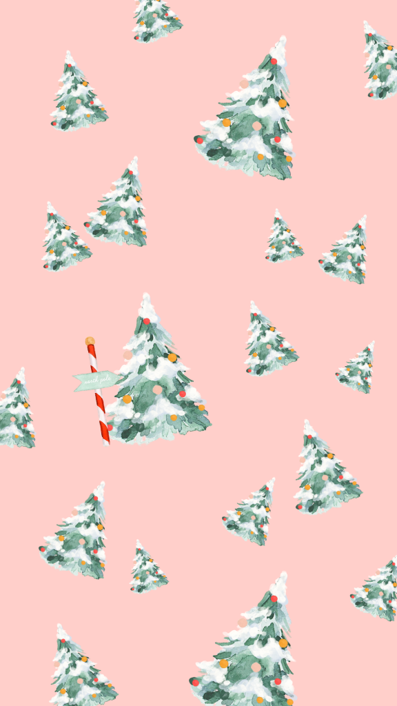 Winter Phone Wallpapers by popular Phoenix life and style blog, Love and Specs: image of holiday phone wallpaper.