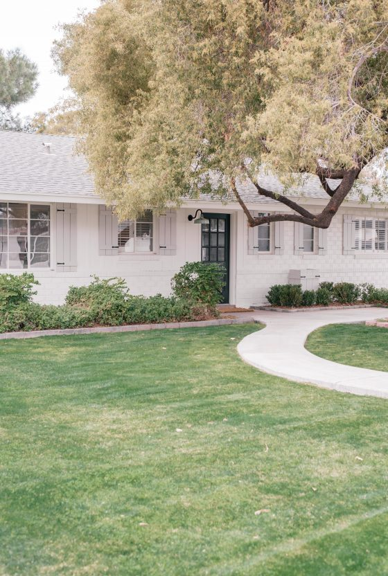 Our Exterior Paint Makeover with Sherwin Williams Alabaster & The Best White Exterior Paint Colors