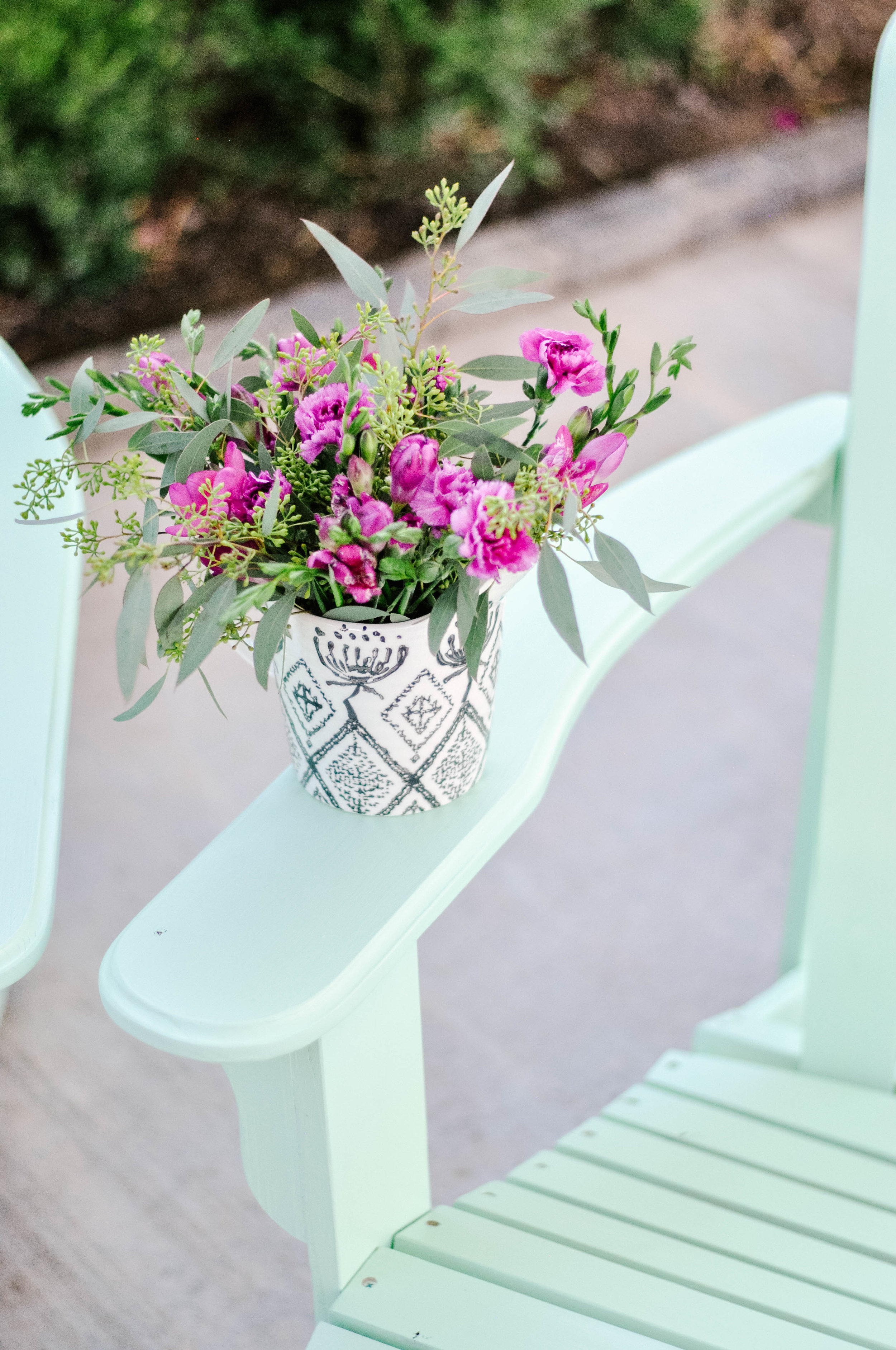 DIY Painted Adirondack Chairs featured by top US home DIY blogger, Love and Specs