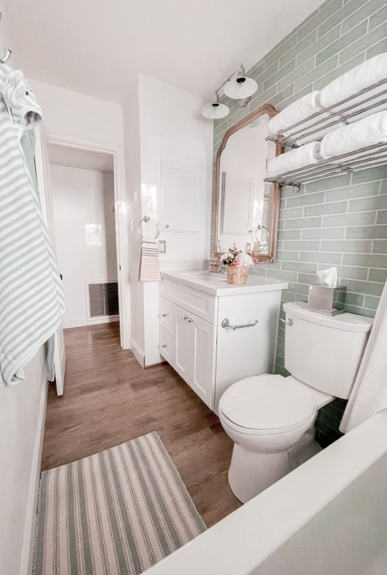 Guest and Kids Bathroom Remodel Ideas featured by top Phoenix home blogger, Love and Specs